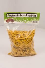 Dekorativni čips, žuti 1 L