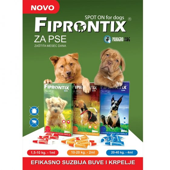 FIPRONTIX 2ml protiv buva i krpelja za pse 10-20kg