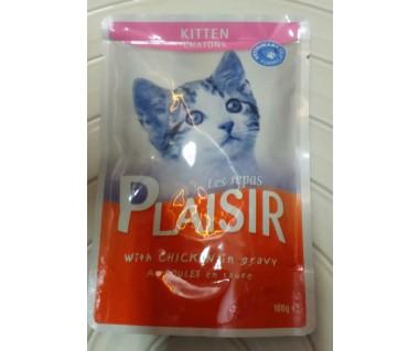 Plaisir sos za mačke 100g pile+jetra